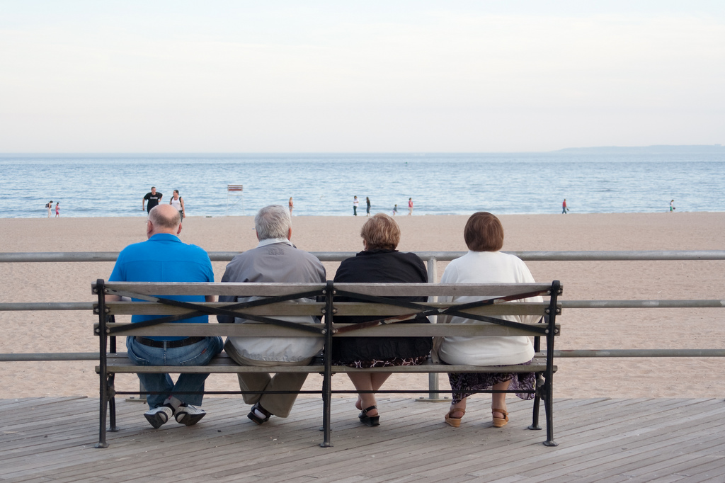 Another Group of Friends on the Boardwalk