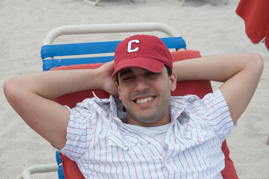 Dan Enjoying South beach