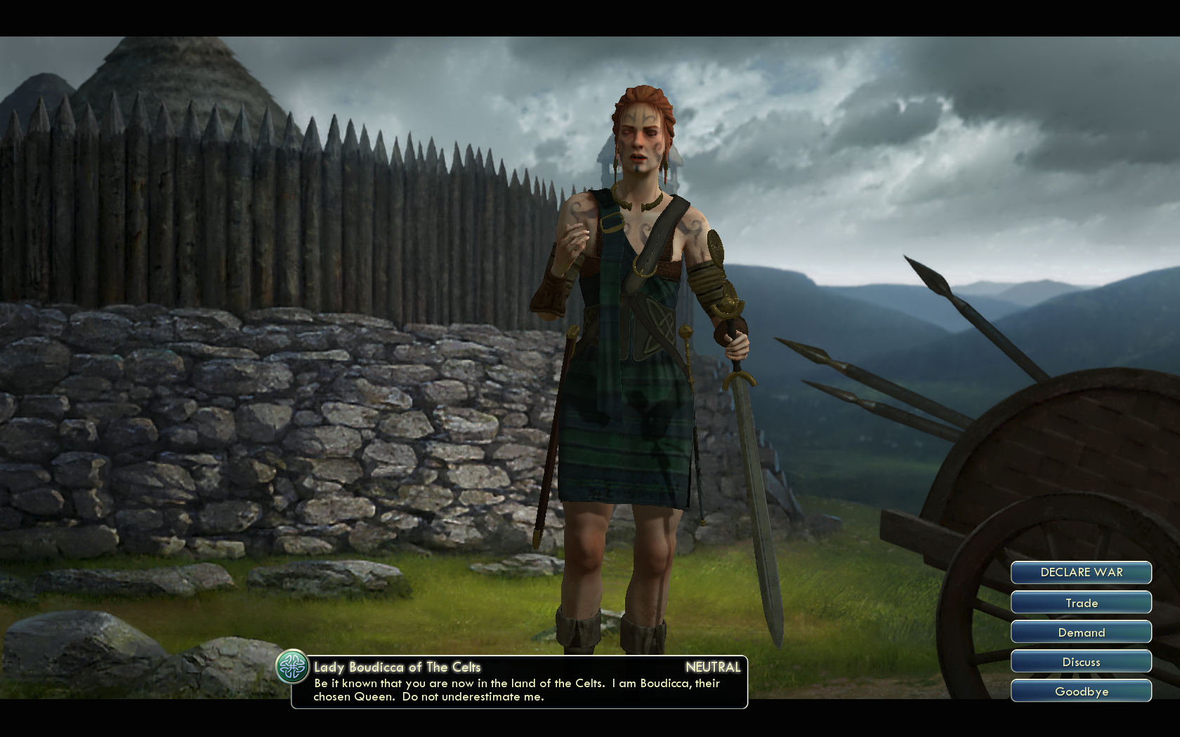 Civilization 5 - against Dave - Meet first other Civ, the Dirty Celts - 3100 BC