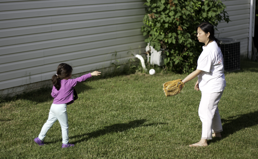 Scarlett plays baseball with first glove - featured image