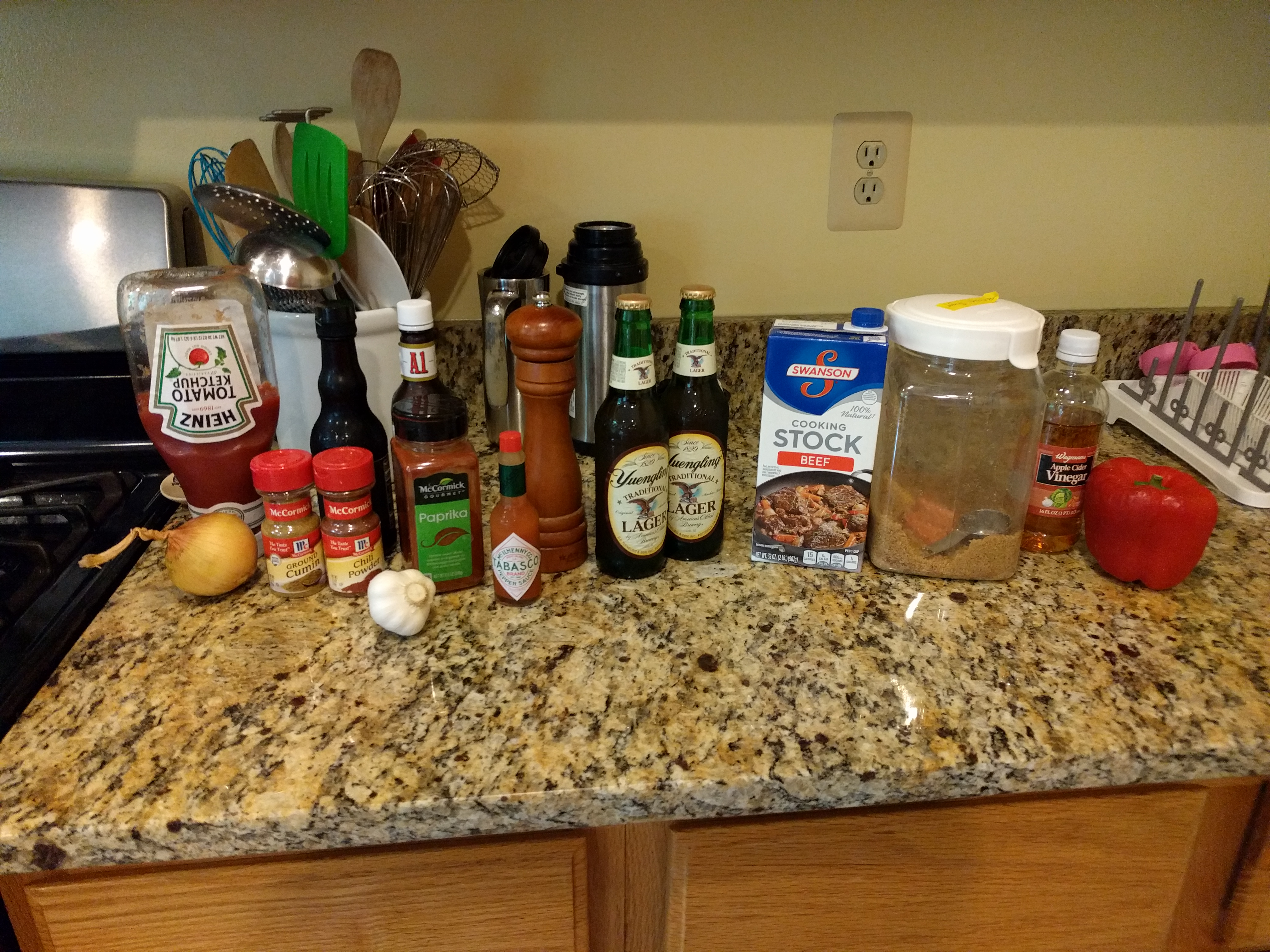 ingredients for the Texas mop sauce