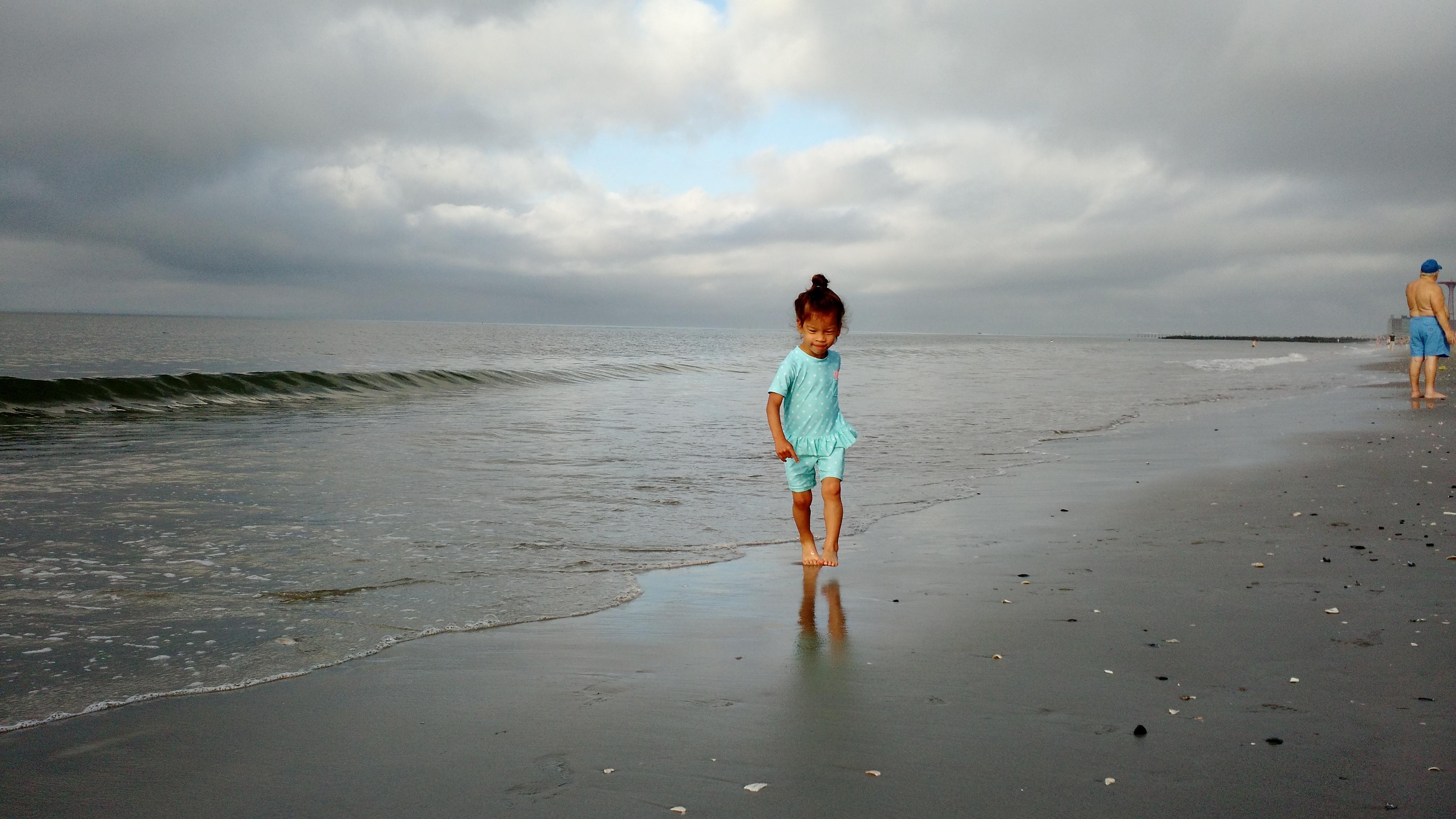 Stella at the beach (photo by Danielle)