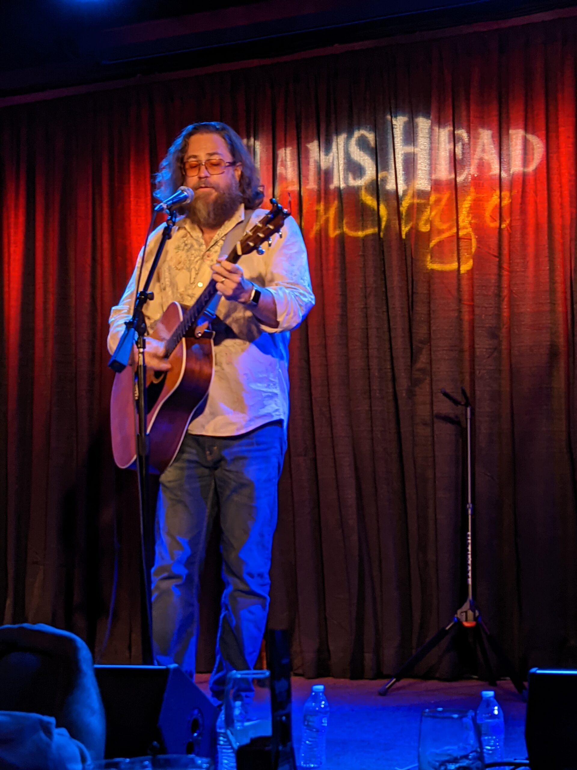Jonathan Coulton on stage at at Ram's Head in Annapolis